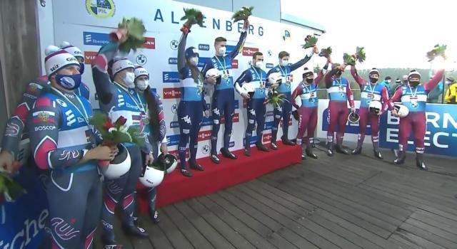 Slittino, vince l'Italia ad Altenberg! Azzurri sul gradino più alto nel team-relay!