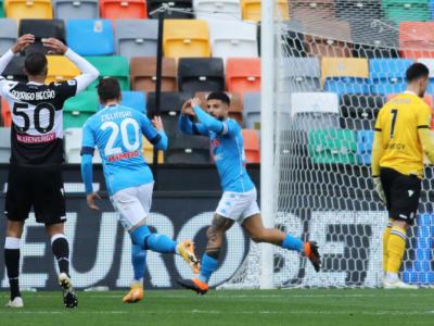 Calcio, Serie A 2021: il Napoli vince all'ultimo minuto contro l'Udinese. La Lazio supera in trasferta il Parma