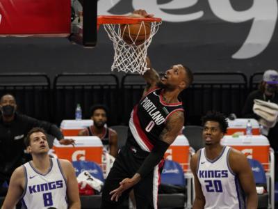 NBA 2020-2021: Lillard trascina Portland al successo con 44 punti, Phoenix travolge Golden State