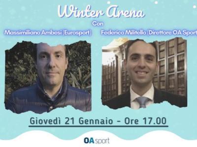 Winter Arena, terza puntata giovedì 21 gennaio con Massimiliano Ambesi. Conduce Federico Militello