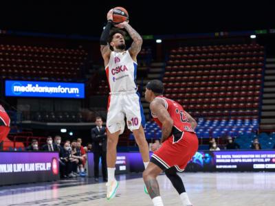 Basket: Daniel Hackett, distorsione alla caviglia in VTB League. Diverse partite di stop per il play