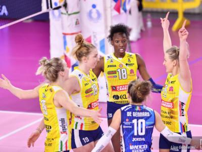 Volley femminile, Serie A1: Conegliano strapazza Scandicci, Pantere imbattibili. Monza, 9 vittorie di fila!
