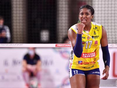 Volley, infortunio Miriam Sylla: nulla di rotto alla spalla destra. Sospiro di sollievo