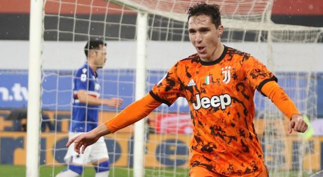Calcio, Sampdoria-Juventus 0-2, decidono i gol di Federico Chiesa e di Aaron Ramsey a Genova