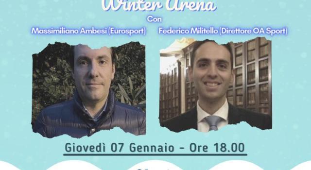 Winter Arena con Massimiliano Ambesi. Il 7 gennaio su Instagram alle 18.00. Conduce Federico Militello