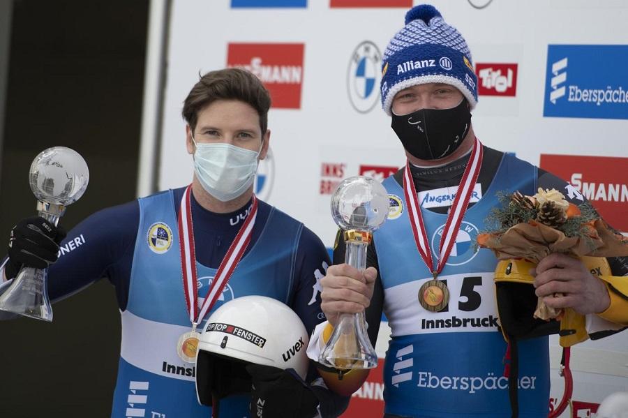 Slittino, Kevin Fischnaller ha vinto la Coppa del Mondo sprint a pari merito con Felix Loch!