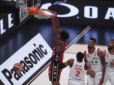 Basket, Serie A 2020-2021: l'Olimpia non si ferma e batte con facilità Reggio