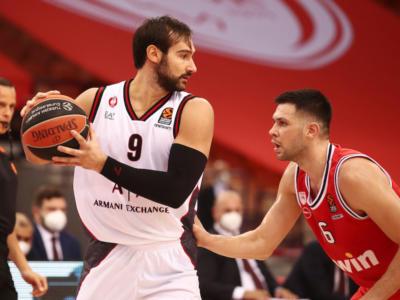 Basket, Eurolega 2020-2021: Olimpia Milano, il pokerissimo con l'Olympiacos Pireo per volare