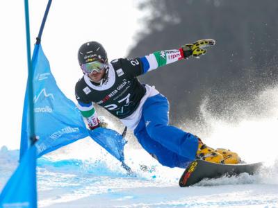 Snowboard, nelle qualificazioni del PGS di Rogla tre azzurri chiudono tra i primi quattro