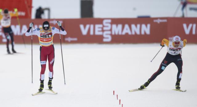 Combinata nordica, staffetta NH/4×5 km maschile. Sfida Norvegia-Germania per l'oro. Italia da top-6
