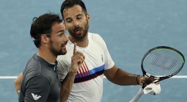 """Cosa è successo tra Fognini e Caruso agli Australian Open. Il siciliano: """"Mi hai mancato di rispetto"""""""