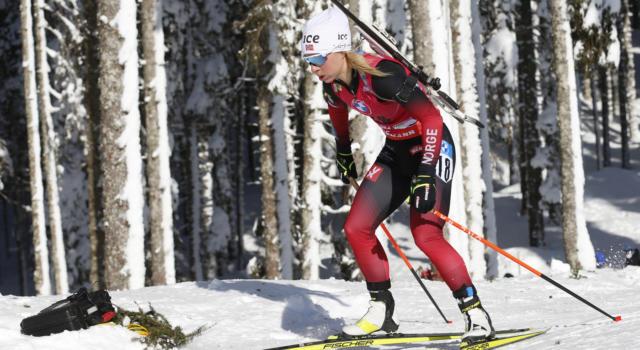 Biathlon, Tiril Eckhoff ancora regina nell'inseguimento dei Mondiali di Pokljuka 2021. Strepitoso 4° posto per Wierer