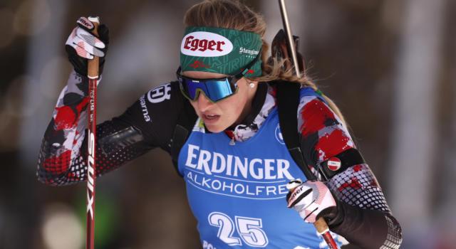 Biathlon, Lisa Hauser campionessa del mondo nella mass start. Vittozzi fa sognare, poi chiude quinta
