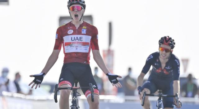 """UAE Tour, Tadej Pogacar: """"Volevamo vincere, ho risposto a tutti gli attacchi. Per la classifica non è finita"""""""