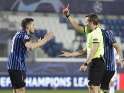 Calcio, l'Atalanta regge a lungo in dieci contro il Real Madrid ma nel finale cede per 0-1 negli ottavi di Champions League