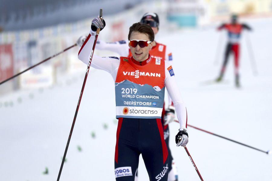 Combinata nordica |  Norvegia in trionfo ai Mondiali nella prova a squadre maschile  Sul podio Germania e Austria |  settima l'Italia