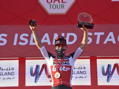 """UAE Tour 2021, Caleb Ewan dopo la vittoria: """"C'era un po' di pressione, ho grandi piani per quest'anno"""""""