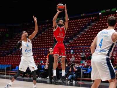 Basket, Eurolega 2021: l'Olimpia Milano recupera il match contro lo Zenit, occasione per continuare a volare