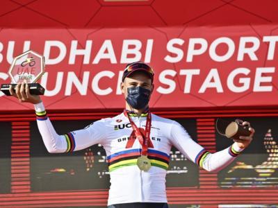 UAE Tour 2021, Filippo Ganna implacabile nella cronometro. Tadej Pogacar leader della generale