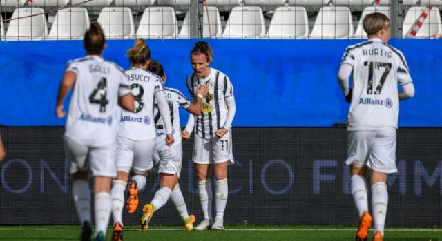 Calcio femminile, Serie A 2021: tris della Juventus contro San Marino, la Roma batte l'Empoli
