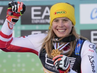 """Sci alpino, Katharina Liensberger: """"Non riesco a crederci, vincere in slalom a Cortina è speciale"""""""