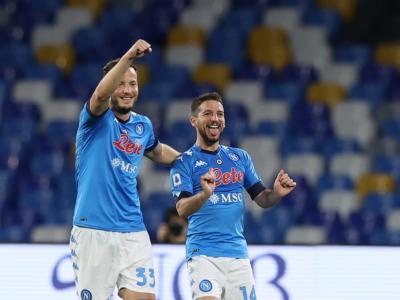 Calcio, Mertens e Politano regalano il successo al Napoli, steso il Benevento