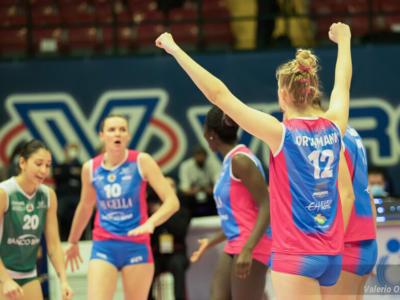 Volley, Serie A1 femminile, 25. giornata. Conegliano schiaccia Novara. Monza espugna Perugia e avvicina il terzo posto