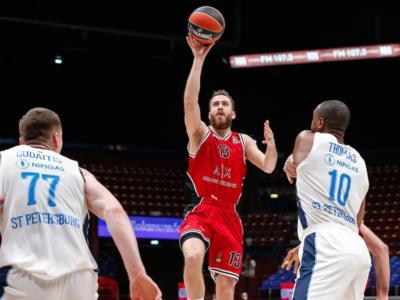 LIVE Zenit-Olimpia Milano 79-70, Eurolega basket in DIRETTA: sconfitta in Russia per i milanesi