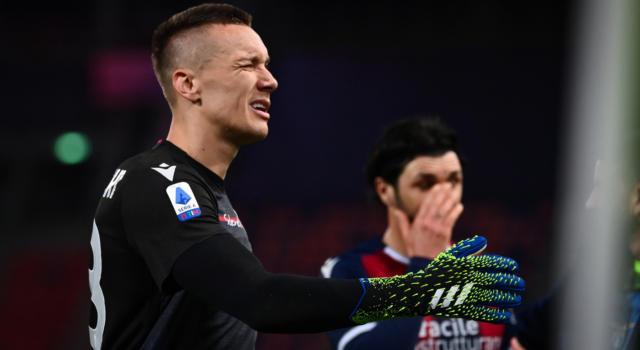 Calcio: Lukasz Skorupski positivo al Covid-19. Il portiere del Bologna è già in isolamento