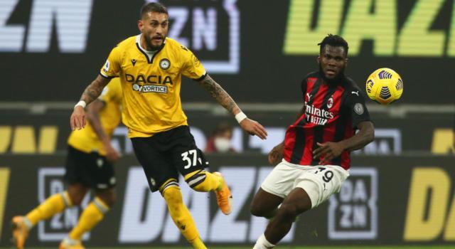 VIDEO Milan-Udinese 1-1: highlights e sintesi. Gol di Rodrigo Becao e Kessié