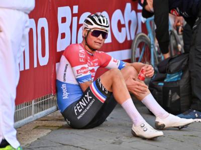 """Strade Bianche 2021, Mathieu van der Poel: """"Alaphilippe era stanco, sapevo di poterlo staccare"""""""