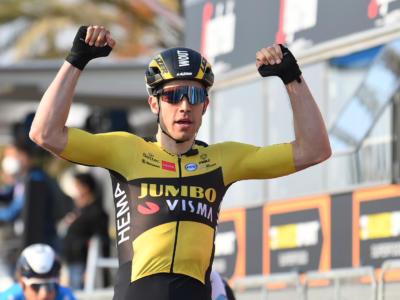 """Tirreno-Adriatico 2021, Wout van Aert: """"Ho trovato il momento giusto per lanciare la volata"""""""