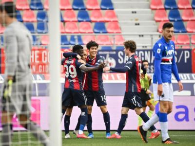Calcio, Serie A: Barrow, Svanberg e Soriano stendono la Sampdoria. Il Bologna si impone 3-1