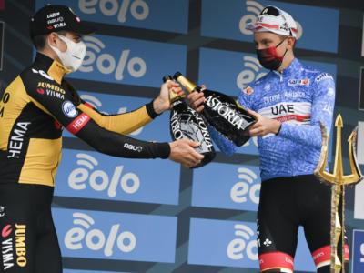 Tirreno-Adriatico 2021: le pagelle di oggi. Van Aert e Pogacar padroni indiscussi! Crono un po' amara per Ganna