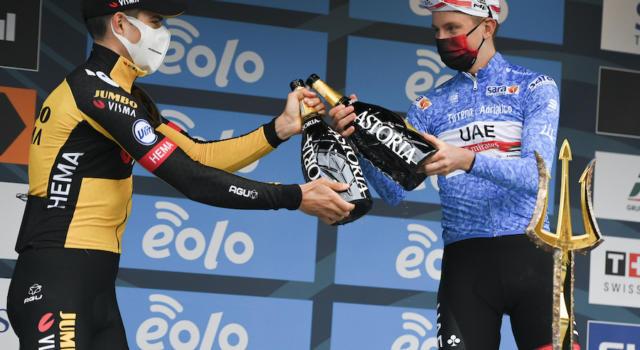 """Giro dei Paesi Baschi 2021, Tadej Pogacar: """"La Jumbo-Visma ha perso la maglia, dunque sicuramente hanno commesso degli errori"""""""