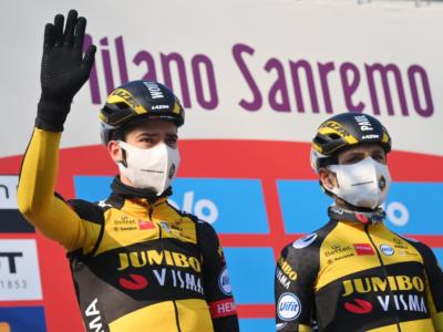 Gand-Wevelgem, Van Aert spezza il sogno di Nizzolo e Trentin in uno sprint ristretto
