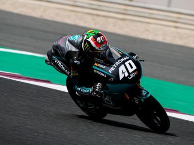 Moto3, risultato warm-up GP Qatar 2021: Darryn Binder il più veloce, Andrea Migno 2°