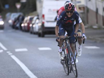 """Strade Bianche, Egan Bernal: """"Una gara che mi dà motivazione, essere sul podio con var der Poel e Alaphilippe è fantastico"""""""