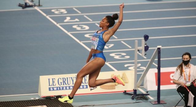 Atletica, Larissa Iapichino è quinta nel salto in lungo agli Europei indoor. Trionfa Bekh-Romanchuk