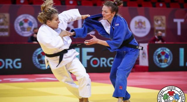 Judo, Odette Giuffrida cede in finale alla bestia nera Buchard ed è argento nei 52 kg agli Europei 2021