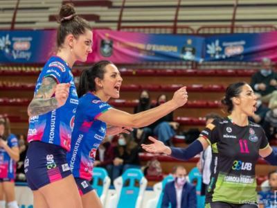Volley femminile, Champions League semifinali ritorno. Conegliano a due set da Verona. Novara, serve un'impresa