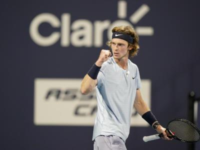 Masters 1000 Miami 2021, l'ultimo semifinalista è il russo Andrey Rublev