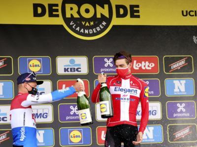 """Ciclismo, """"zero titoli"""" per van der Poel e Van Aert tra Fiandre e Sanremo. Gli alieni sono più umani"""