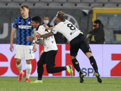 VIDEO Inter-Spezia 1-1: gol, highlights e sintesi. Perisic risponde a Farias