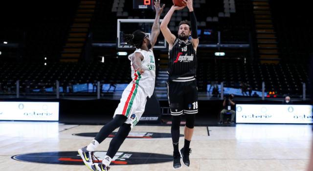 Basket: Virtus Bologna, rimonta mancata. Belinelli ne fa 33, ma l'Unics Kazan forza gara-3 in semifinale di EuroCup
