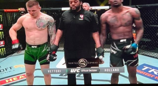 MMA UFC, Marvin Vettori domina Kevin Holland e si candida per il Mondiale!