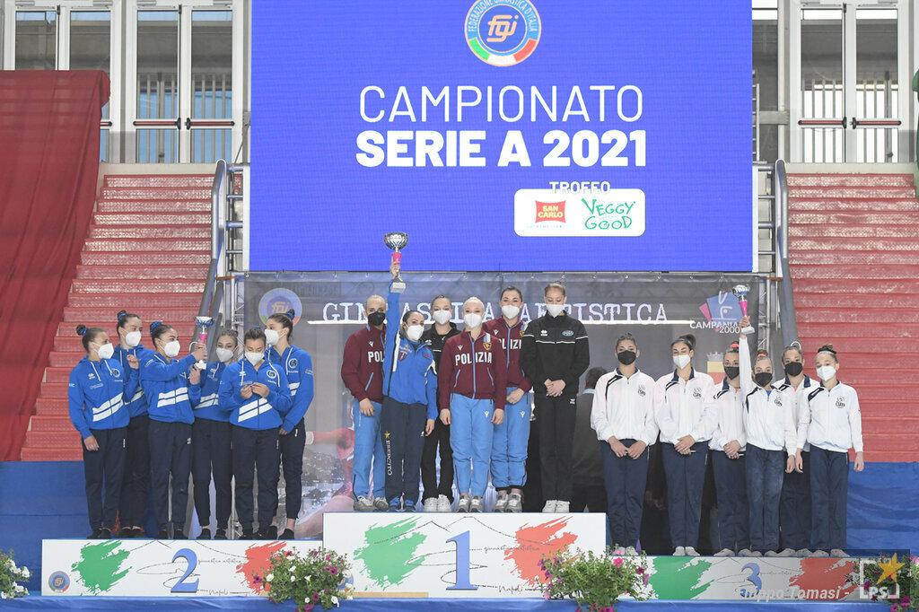 Ginnastica artistica, Serie A: le squadre qualificate alla Final Six Scudetto e retrocesse in A2. La classifica