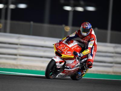 Moto2, uno-due azzurro con Fabio Di Giannantonio davanti a Marco Bezzecchi in FP1 nel GP di Doha