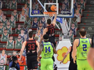 Basket, Champions League 2021: Sassari perde ancora, netto successo del Nymburk
