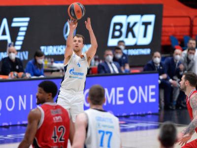 Basket: Zenit San Pietroburgo ai playoff di Eurolega, sfiderà il Barcellona. Virtus Bologna nella stagione 2021-2022 se vince mercoledì